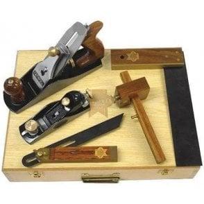 Faithfull Carpenters Tool Kit in Wooden Box (5 Piece)