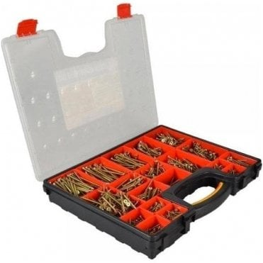 Forgefix Mixed Screw Set in Organiser (1500 Piece)
