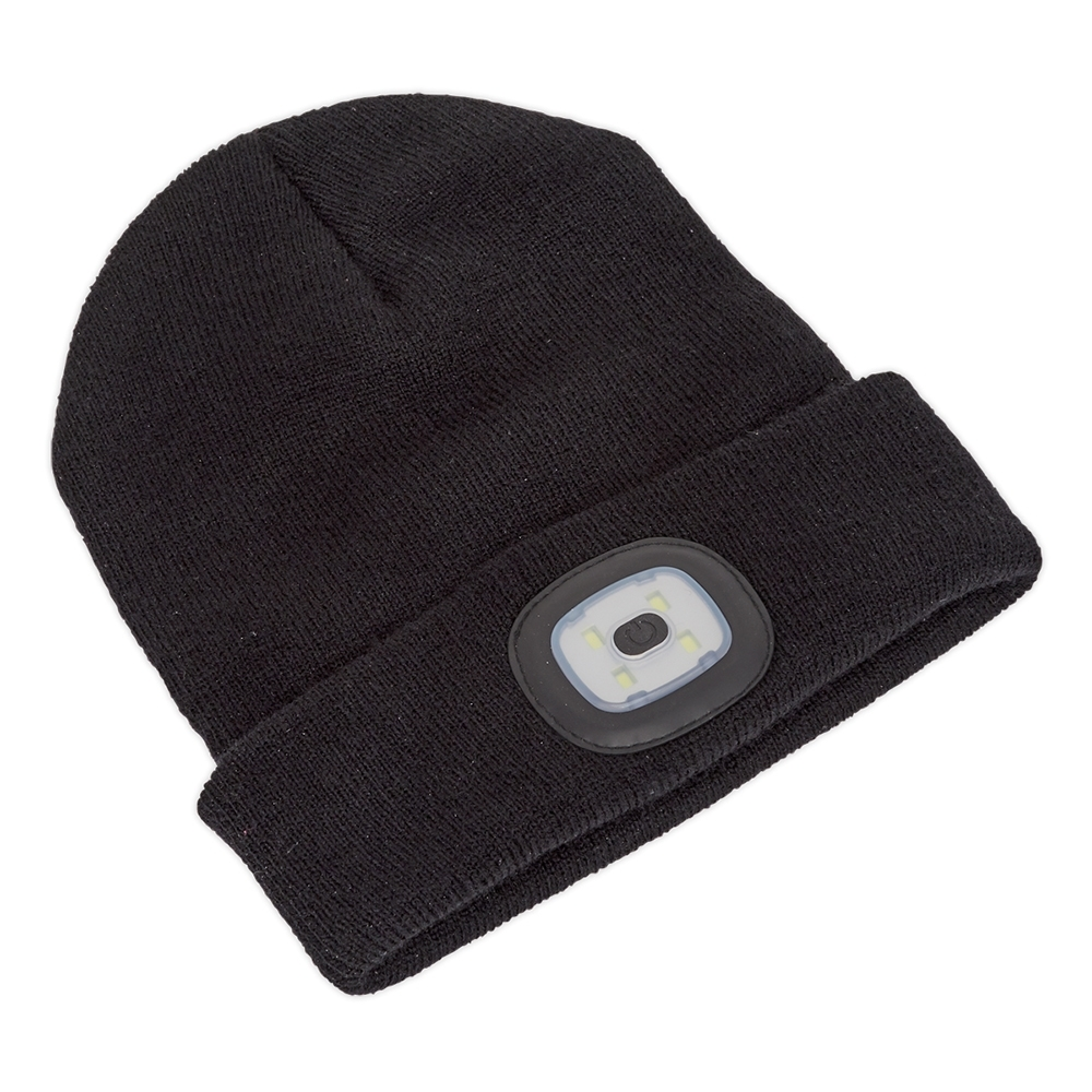 d96adc15a9c Sealey LED USB Rechargeable Beanie Hat 4 SMD. ‹