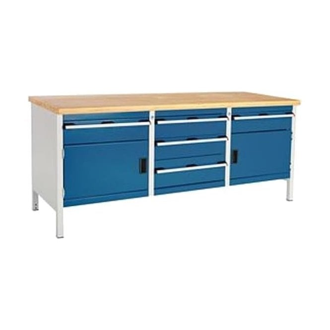 Strange Bott Bott Cubio Storage Bench 2 Cupboards And 5 Drawers With Multiplex Top Pabps2019 Chair Design Images Pabps2019Com