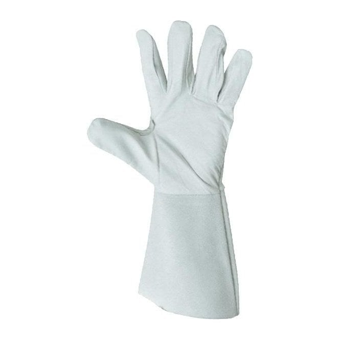 Prestige Silver Leather Tig Welding Glove Kevlar Stitching